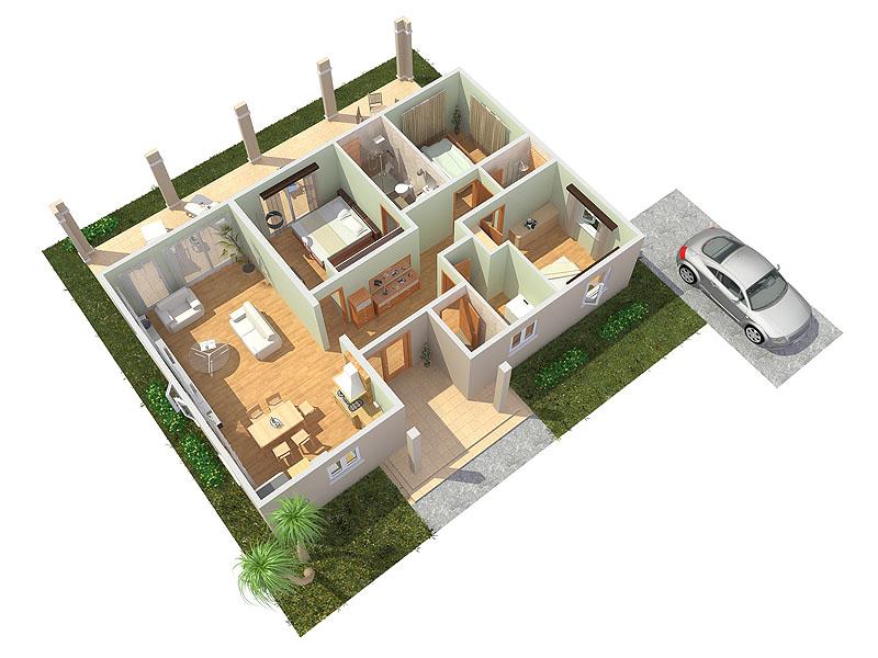 3d visualisatie for 3d woonkamer maken